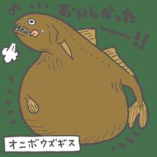 Deep-sea fish charaters sticker #495784