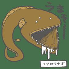 Deep-sea fish charaters sticker #495787