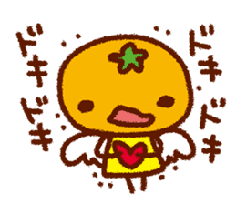 Mandarin orange angel sticker #496399