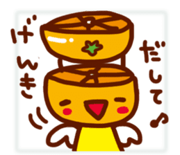 Mandarin orange angel sticker #496411
