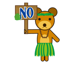 Hula Bear & Hawaiian Tiki sticker #496875
