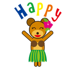 Hula Bear & Hawaiian Tiki sticker #496876