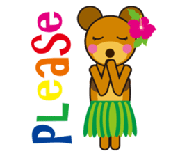 Hula Bear & Hawaiian Tiki sticker #496877