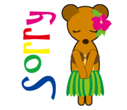 Hula Bear & Hawaiian Tiki sticker #496878