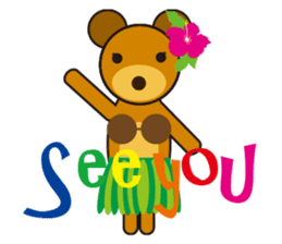 Hula Bear & Hawaiian Tiki sticker #496879