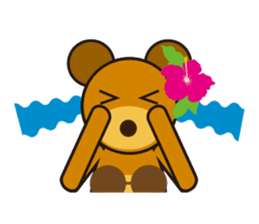 Hula Bear & Hawaiian Tiki sticker #496882