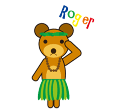 Hula Bear & Hawaiian Tiki sticker #496889