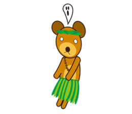 Hula Bear & Hawaiian Tiki sticker #496890
