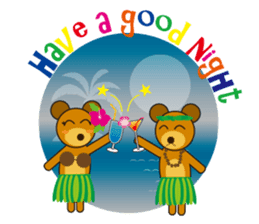 Hula Bear & Hawaiian Tiki sticker #496895