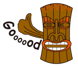 Hula Bear & Hawaiian Tiki sticker #496901