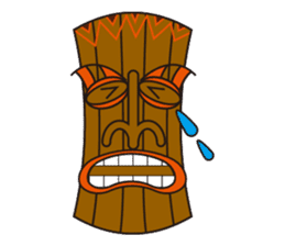 Hula Bear & Hawaiian Tiki sticker #496903