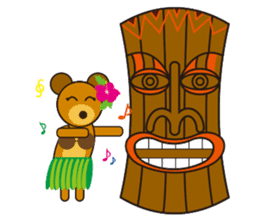 Hula Bear & Hawaiian Tiki sticker #496910