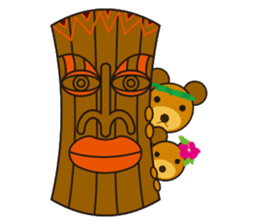 Hula Bear & Hawaiian Tiki sticker #496911
