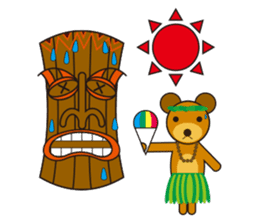 Hula Bear & Hawaiian Tiki sticker #496913