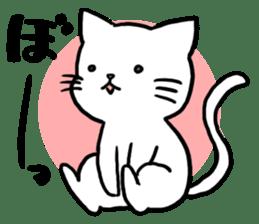 Unrestrained cat sticker #497234