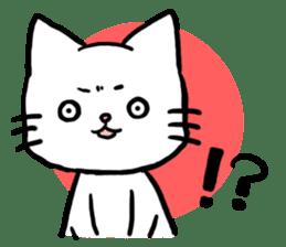 Unrestrained cat sticker #497245
