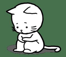 Unrestrained cat sticker #497254