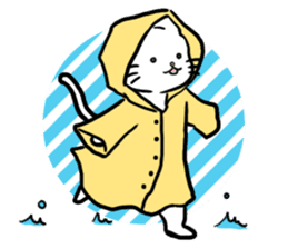 Unrestrained cat sticker #497261