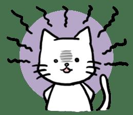 Unrestrained cat sticker #497264