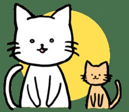 Unrestrained cat sticker #497267