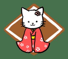 Unrestrained cat sticker #497273