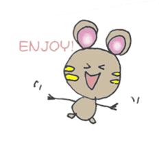 YURARI MOUSE sticker #497368
