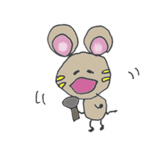 YURARI MOUSE sticker #497371