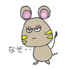 YURARI MOUSE sticker #497372