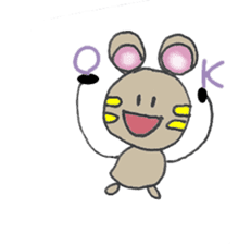 YURARI MOUSE sticker #497378