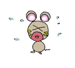 YURARI MOUSE sticker #497389