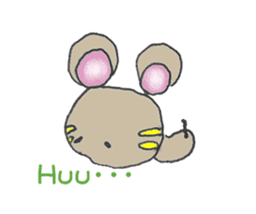 YURARI MOUSE sticker #497390
