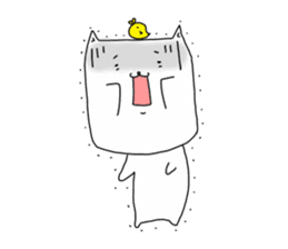 Nyanpachi and chick sticker #502248