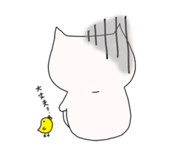 Nyanpachi and chick sticker #502251
