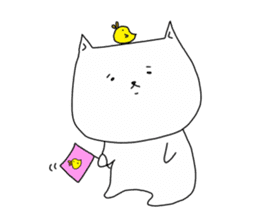 Nyanpachi and chick sticker #502254