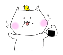Nyanpachi and chick sticker #502272