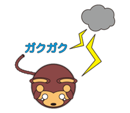 circle face 5 monkey : for japanese sticker #502486