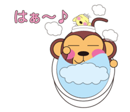 circle face 5 monkey : for japanese sticker #502491