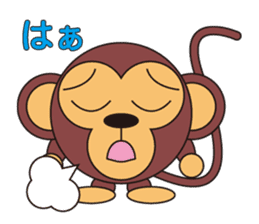 circle face 5 monkey : for japanese sticker #502498