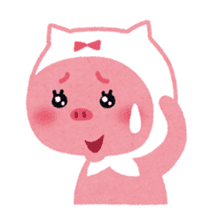 Butapin the Pink Pig sticker #503135