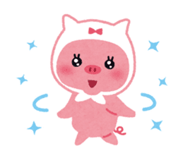 Butapin the Pink Pig sticker #503139