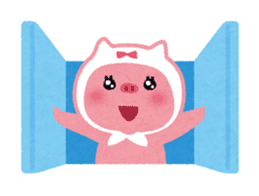 Butapin the Pink Pig sticker #503149