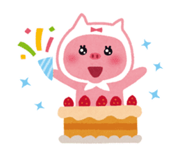 Butapin the Pink Pig sticker #503152