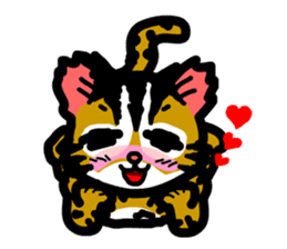 P. bengalensis love you sticker #503915