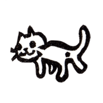 cat stamp cute rustic. sticker #504035