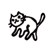 cat stamp cute rustic. sticker #504036