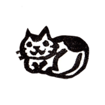 cat stamp cute rustic. sticker #504046