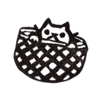 cat stamp cute rustic. sticker #504057