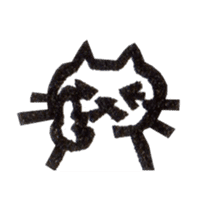 cat stamp cute rustic. sticker #504061
