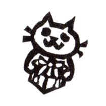 cat stamp cute rustic. sticker #504072