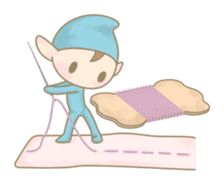 The Sewing Elf sticker #507080